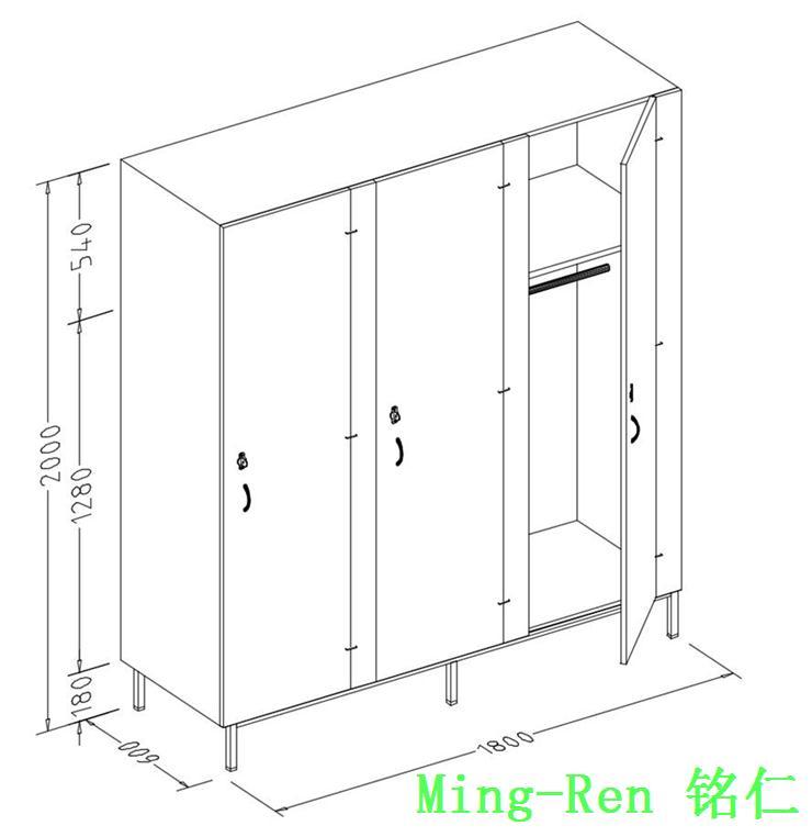 三门衣柜设计图